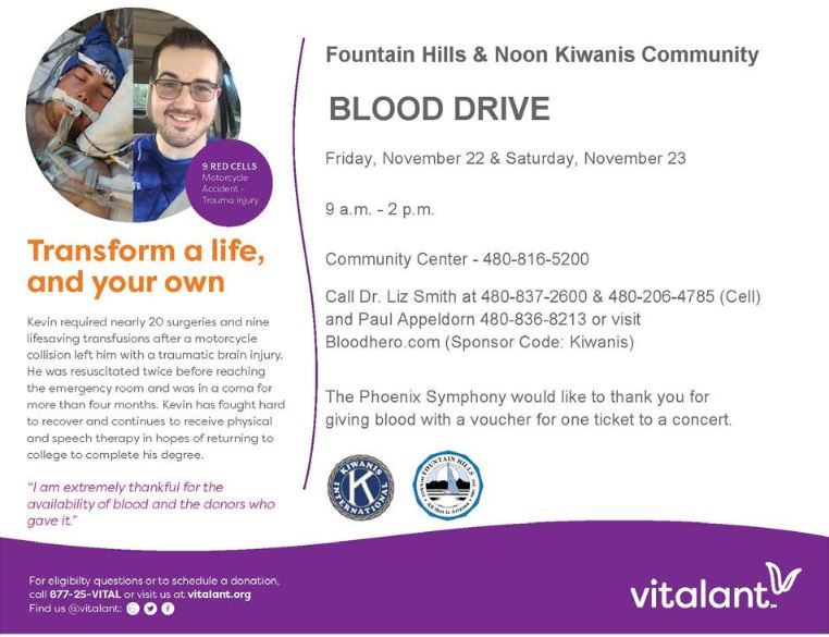 Fountain Hills Blood Drive Poster