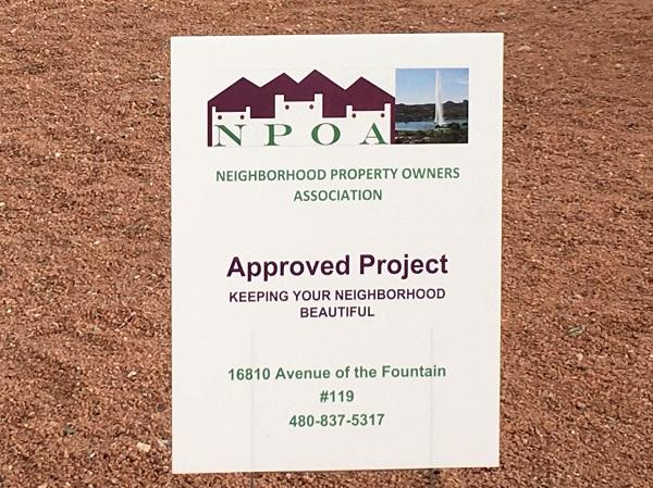 NPOA Yard Sign