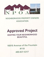 NPOA Approved Project Sign